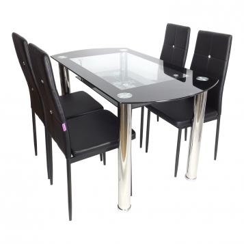 promotii-scaune.ro/Set de masa SM67D11 negru