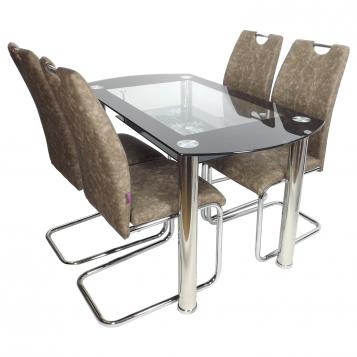 promotii-scaune.ro/Set de masa SM67D16 maro-gri