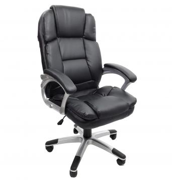 Scaun directorial B110 Super Confort, negru, piele ecologica