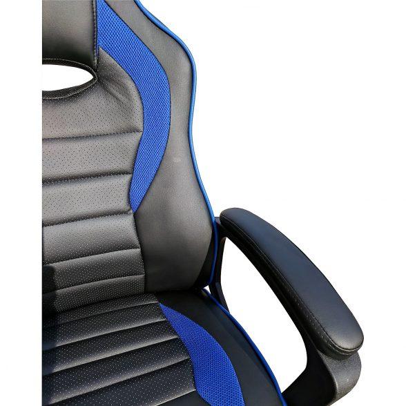 scaun gaming B101 negru si albastru