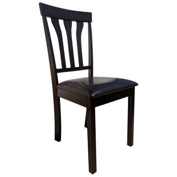 promotii scaune.ro/scaun de bucatarie Zen 121 din lemn wenge cappuccino