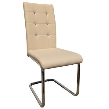 promotii scaun.ro/ Scaun de bucatarie Zen D23 crem cu diamant