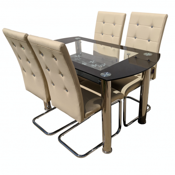 promotii scaune.ro/ Set de masa Zen 67D23 bej