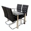 promotii scaune.ro/ Set de masa Zen 67D23, negru 130x70x75 cm