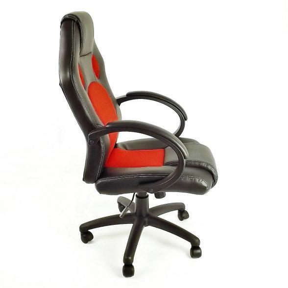 Scaun birou B18 rosu-negru-zendeco (3)