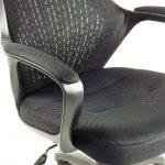 Zendeco.ro-Scaun birou B53 negru din mesh cu tetier si brate de piele ecologica-zendeco (4)