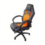 Scaun birou B28,negru-portocaliu-zendeco.ro