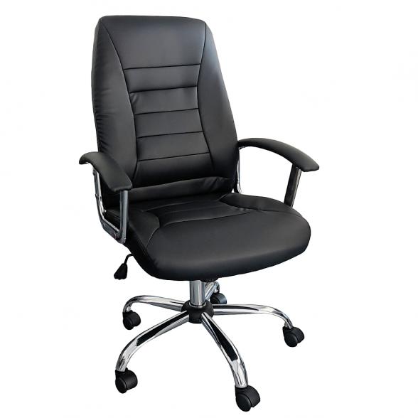 scaun ergonomic Zen B02 negru cu baza cromata,zendeco.ro (2)
