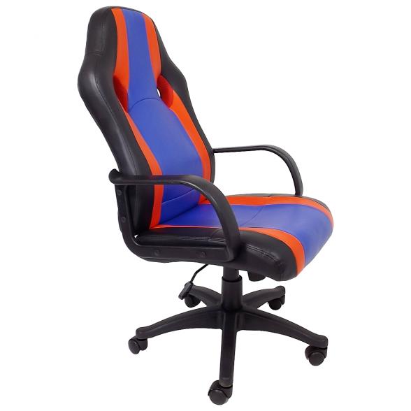 scaun birou B17, rosu, albastru, negru (3)