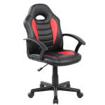 Scaun birou B11 pentru copii, negru/rosu