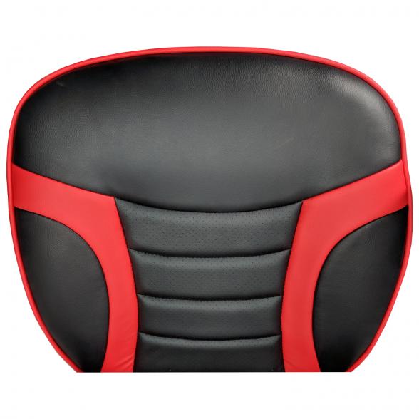 Zendeco.ro-Scaun Gaming Arka B99, negrurosu,piele perforat, piele ecologica