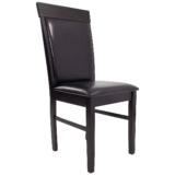 scaun bucatarie 133,wenge din lemn si piele ecologica dark brown (3)