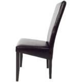 scaun bucatarie T500 din lemn wenge si de piele ecologica dark brown (2)