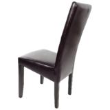 scaun bucatarie T500 din lemn wenge si de piele ecologica dark brown (3)