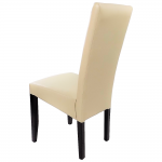 scaun living din lemn wenge si PU crem (2)