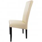 scaun living din lemn wenge si PU crem (3)