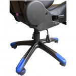 Scaun gaming B24,negru-albastru-zendeco (1)