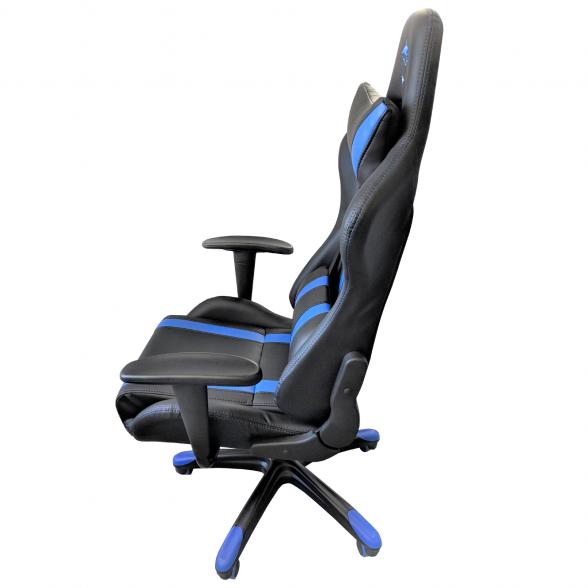 Scaun gaming B24,negru-albastru-zendeco (3)