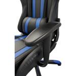 Scaun gaming B24,negru-albastru-zendeco (4)