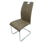 promotii-scaune.ro/scaun bucatarie D16 maro-gri