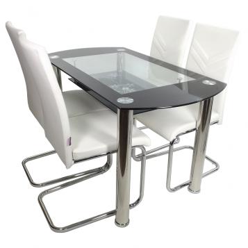 promotii-scaune.ro/Set de masa SM67D15 alb