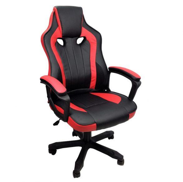 scaun gaming Arka B104 negru rosu (1)