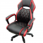 scaun birou B105 negru rosu