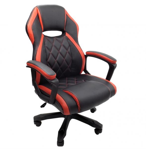 scaun birou B105 negru rosu (2)