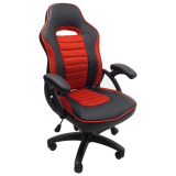 scaun birou B106 negru rosu (3)