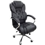 scaun birou B108, culoare negru cu picioare si brate din metal cromate