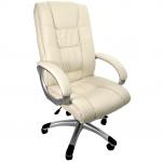 scaun directorial B114 culoare crem cu baza plastic