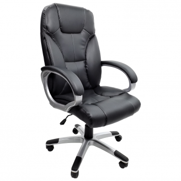 scaun directorial B109 negru cu brate