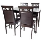 masa de bucatarie cu patru scaune de bucatarie din lemn culoare wenge. promotii-scaune.ro