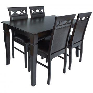 promotii-scaune.ro, Set de masa Zen SM79118 maro inchis 120x70x75 cm