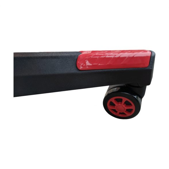 Baza neagra cu rola gumate pentru scaune de gaming black red-Zendeco.ro