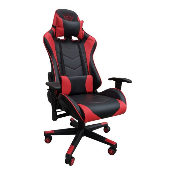 Scaun Gaming Arka Chairs B54 black red piele ecologica-Zendeco.ro