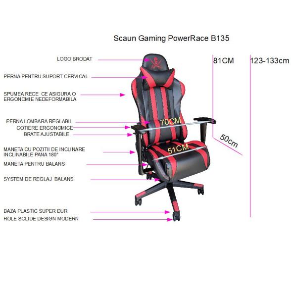 Zendeco.ro-Scaun gaming Power Race B135, negru rosu (1)