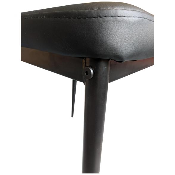 Scaun bucatarie Zen D22, negru, cu picioare din metal negru-zendeco.ro-emag (3)