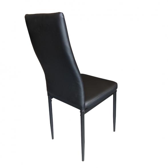 Scaun bucatarie Zen D22, negru, cu picioare din metal negru-zendeco.ro-emag (4)
