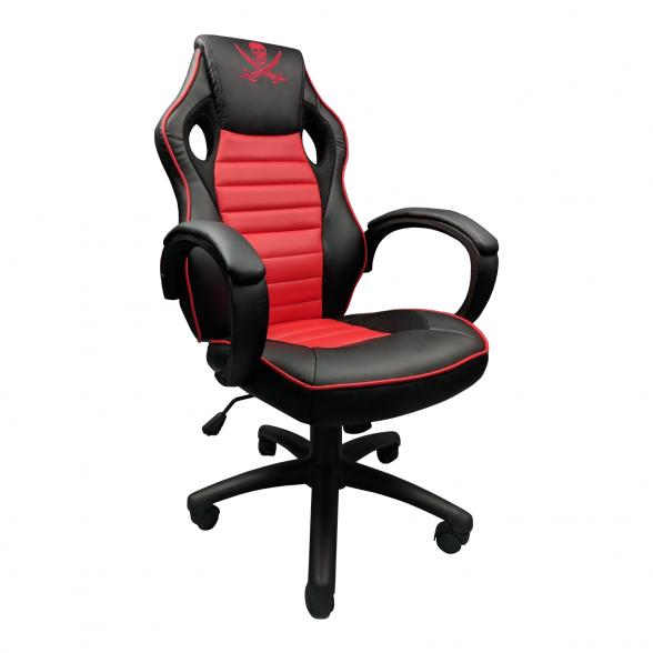Promotii scaune.ro-Scaun Gaming Zendeco Pirat B13 negru rosu (1)