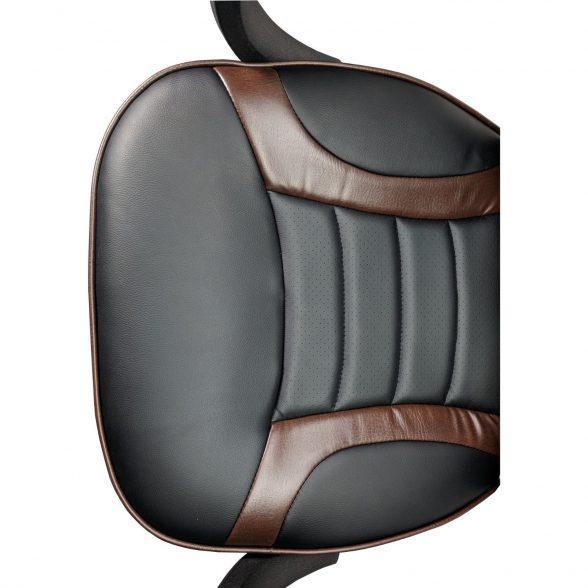 Zendeco.ro-Scaun birou B99 brown, piele ecologica perforata