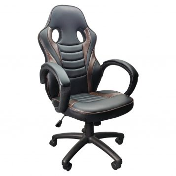 Scaun Gaming Arka B99, brown, piele ecologica perforata anti transpiratie/promotii scaune.ro