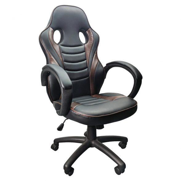 Promotii scaune.ro/Scaun birou B99 brown, piele ecologica perforata