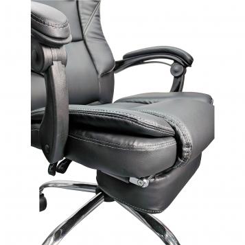 Scaun directorial Comodo B144, negru cu suport picioare/promotii scaune.ro