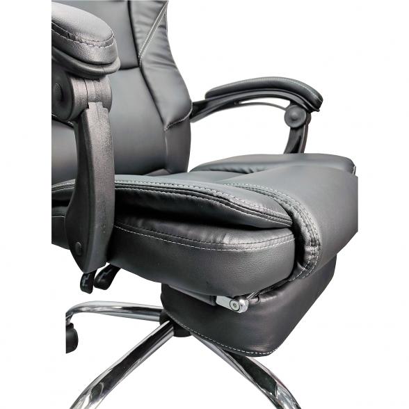 promotii scaune.ro/Scaun directorial Comodo B144, negru cu suport picioare (2)
