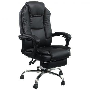 Scaun directorial Comodo B144, negru, Suport picioare/promotii-scaune.ro