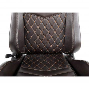 Scaun Gaming Arka Luxury B146 maro si auriu/promotii scaune.ro