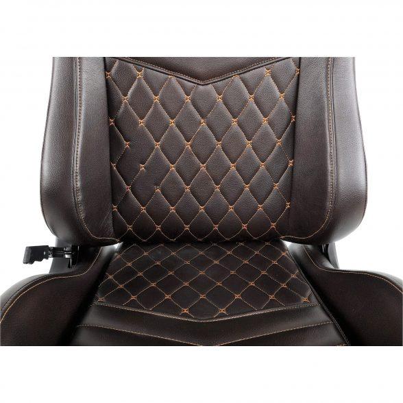 promotii scaune.ro-Scaun Gaming Arka Luxury B146 maro si auriu (2)