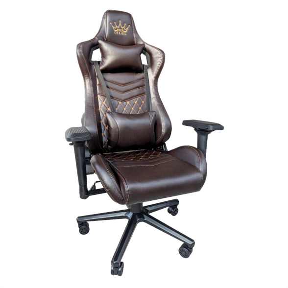Zendeco.ro-Scaun Gaming Arka Luxury B146 maro si auriu