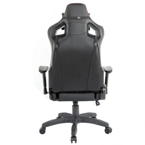 promotii scaune.ro-Scaun Gaming Arka Luxury B157b negru si rosu (3)